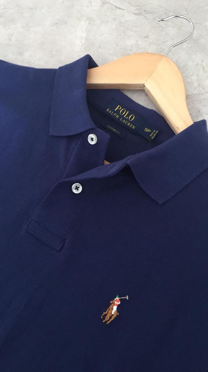camisa polo ralph lauren original azul marinho multicolor. Carregando zoom. f5e9caca4e5e9