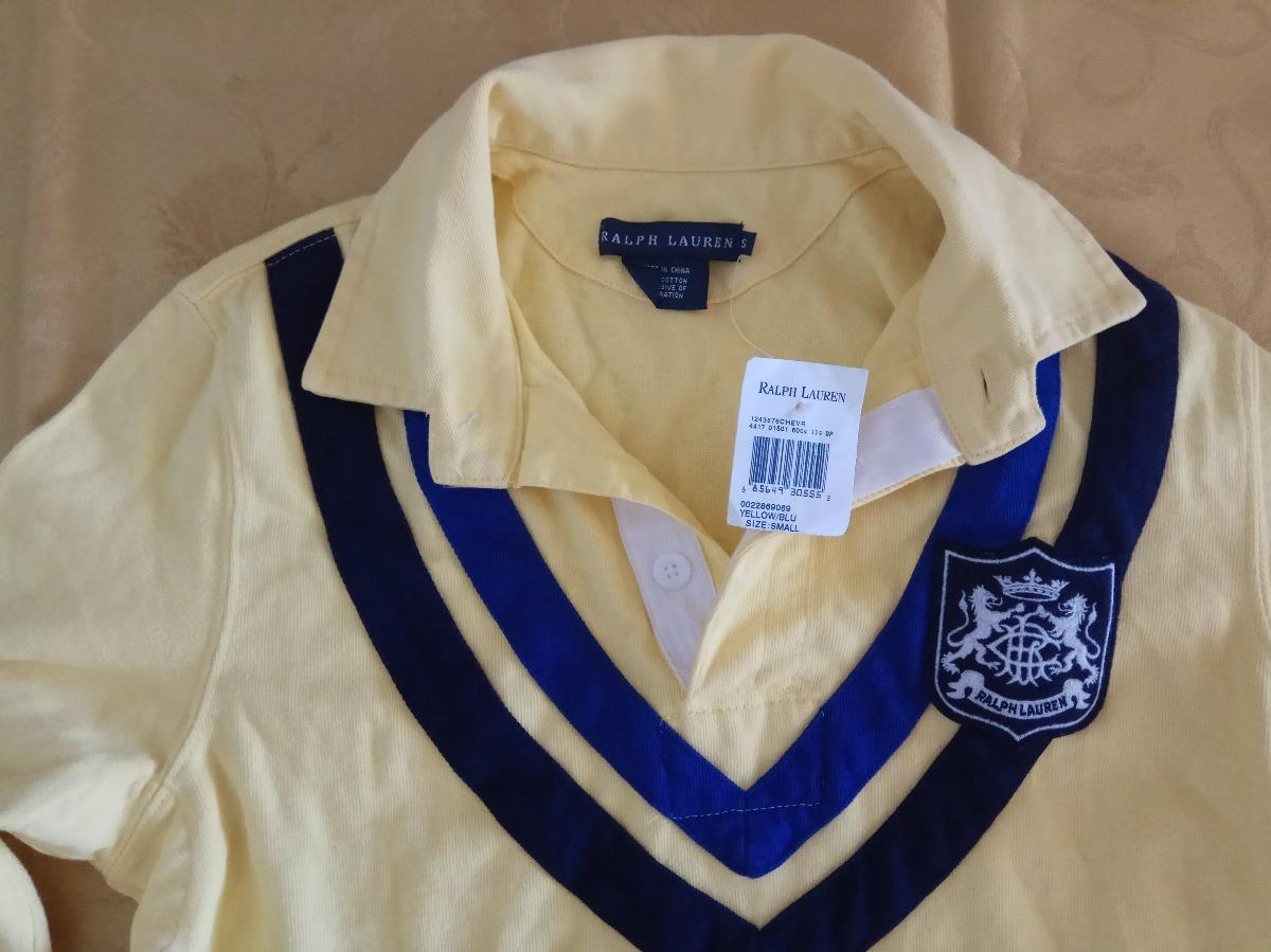 camisa polo ralph lauren original feminino amarelo. Carregando zoom. ec1bcfb08eb