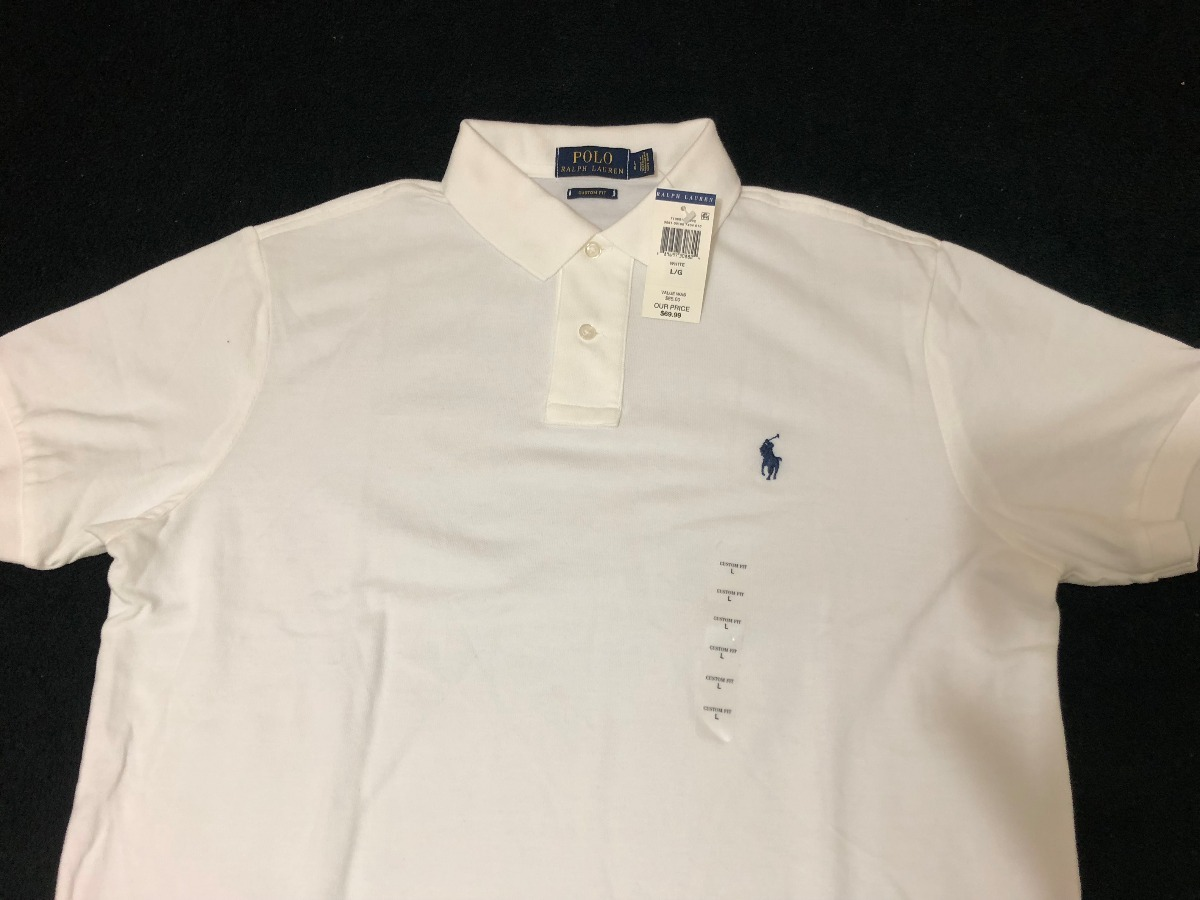 camisa polo ralph lauren - original - tam.  g - branca. Carregando zoom. 3384c5d62bf
