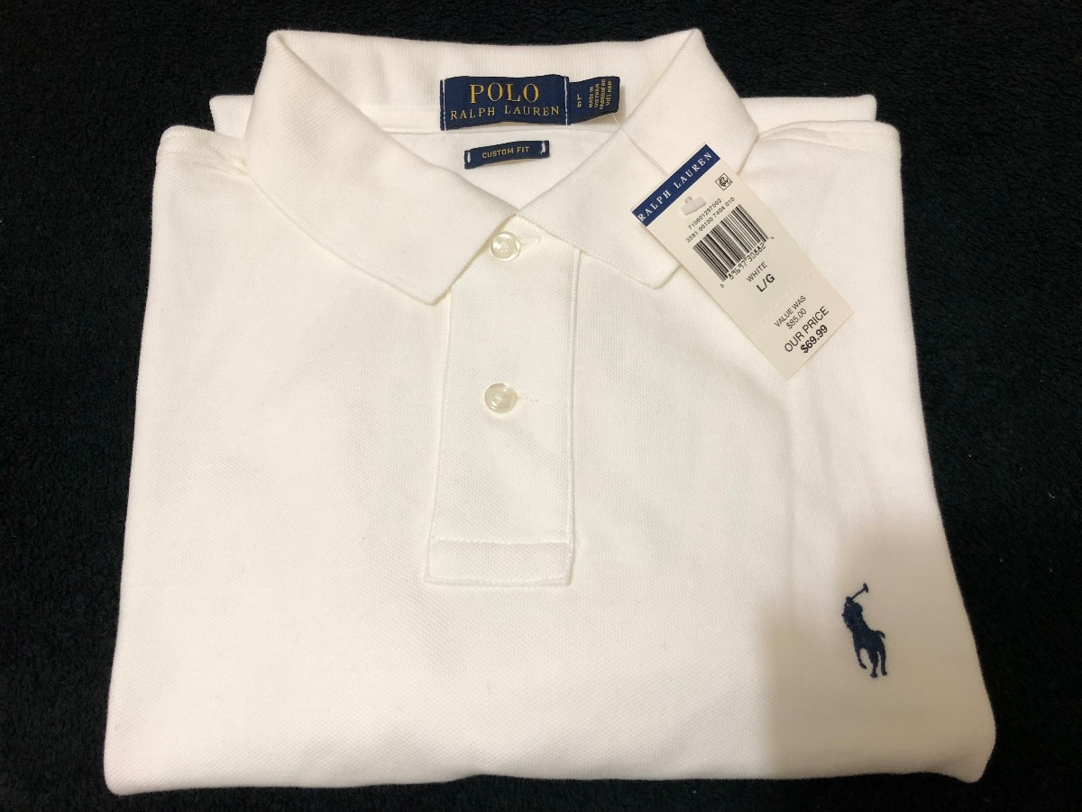 Camisa Polo Ralph Lauren - Original - Tam.  G - Branca - R  219 cd8c43d9d20
