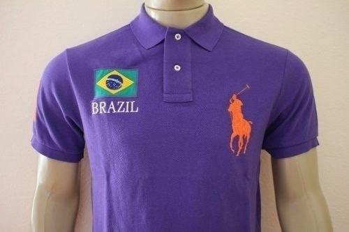 Camisa Polo Ralph Lauren Países - Brazil - R  129 296f3a45f88