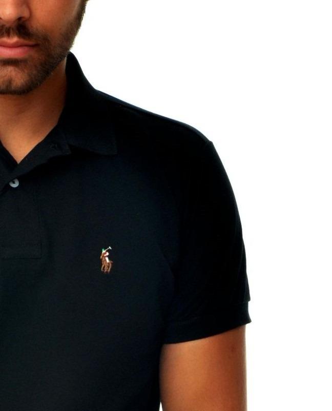 733d376187 camisa polo ralph lauren preto pony bordado colorido. Carregando zoom.