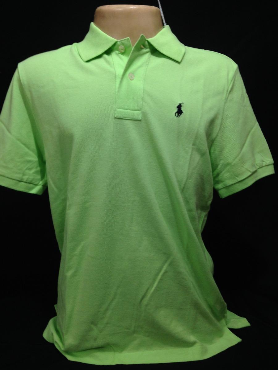 camisa polo ralph lauren verde claro tam g camiseta original. Carregando  zoom. 1852210c05511