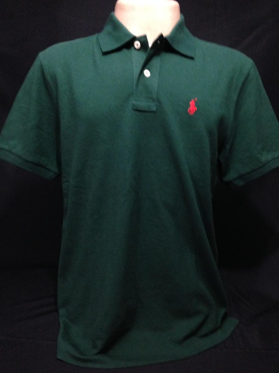 4579dba63 camisa polo ralph lauren verde escuro vermelho tam m camiset. Carregando  zoom.