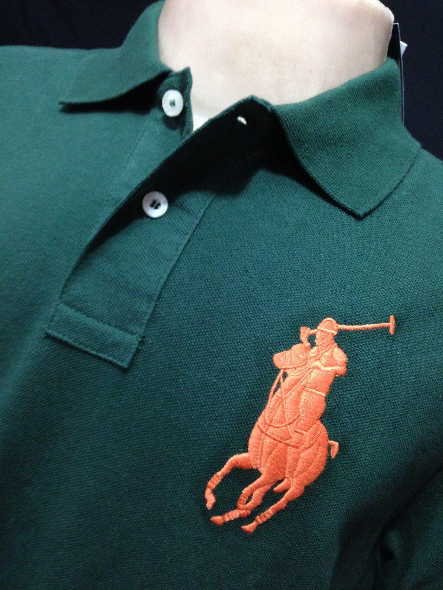 cf583b4587 camisa polo ralph lauren verde poney laranja tam ggg camiset. Carregando  zoom.