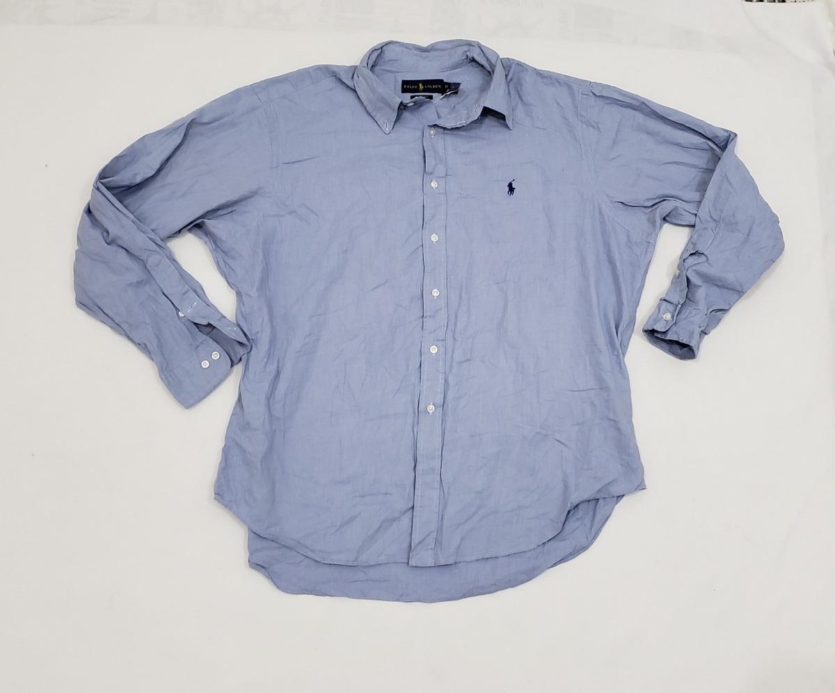 Camisa Polo Ralph Lauren, Xgrande, 17 1 2, 34-35, Azul. -   550.00 ... 7d29109daae