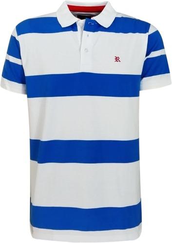 cd6004cf27a2a Camisa Polo Resumo Masculina Listrada Azul Branca - R  119