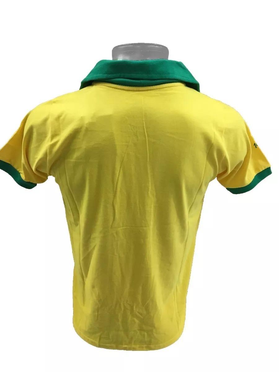738c8b25a camisa polo retrô brasil cbd 1962 amarela. Carregando zoom.