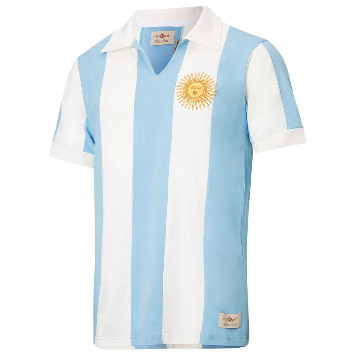 68dbaf6893 camisa polo retrô gol seleção argentina listrada torcedor. Carregando zoom.