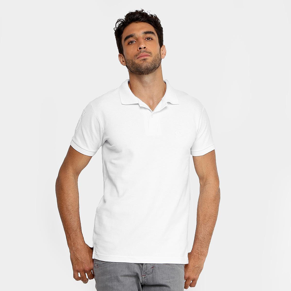 31970af793 camisa polo rg 518 clássica bordado masculina - cor branco. Carregando zoom.