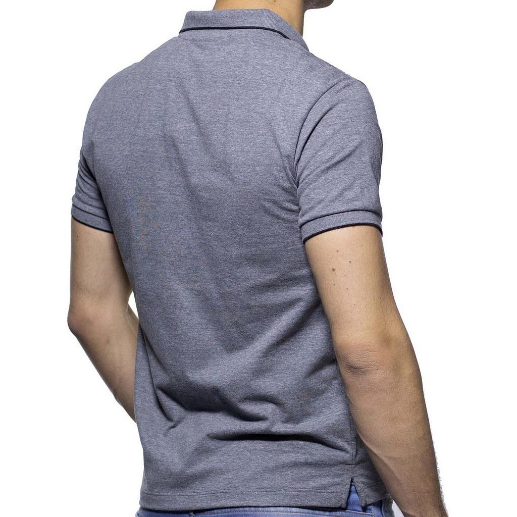 ff77ab0f1d10e camisa polo richards cinza com detalhe na gola. Carregando zoom.