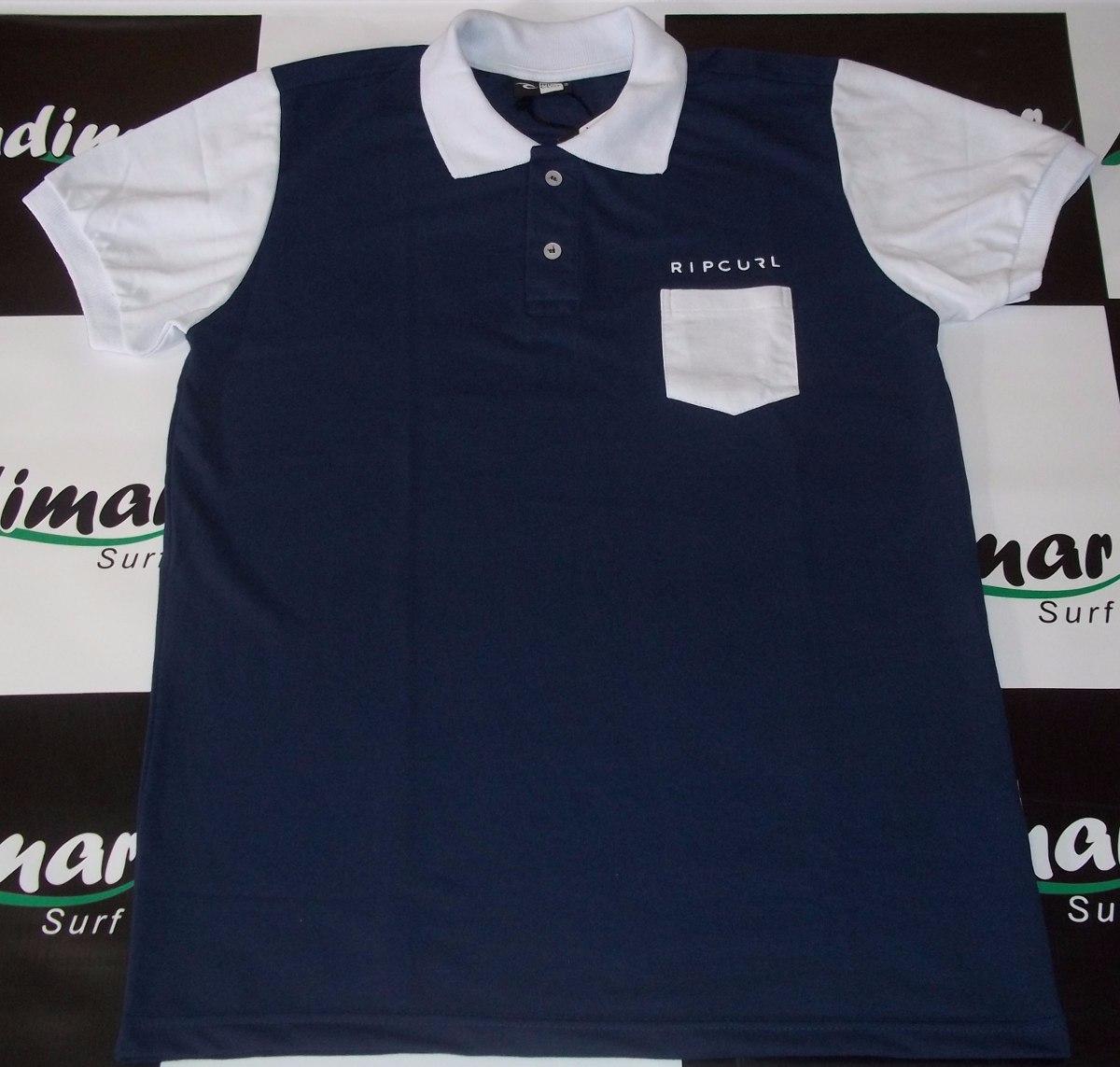 Camisa Polo Rip Curl Original Masculina Top Marca Grife Surf - R  97 ... f208fd9e1e1