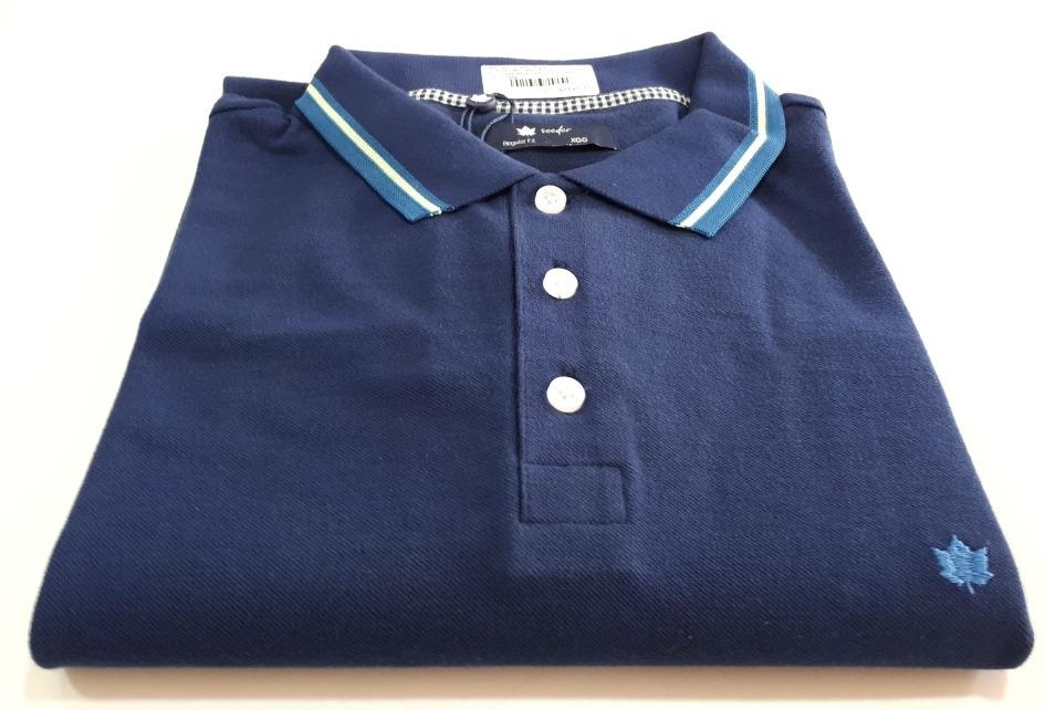 camisa polo seeder regular fit piquet simples azul marinho. Carregando zoom. d6ab06def80de