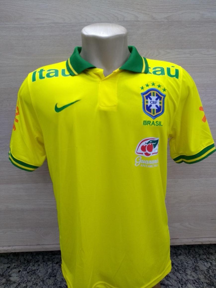 4832e514b6 camisa polo seleção brasileira 2018 guaraná antarctica. Carregando zoom.