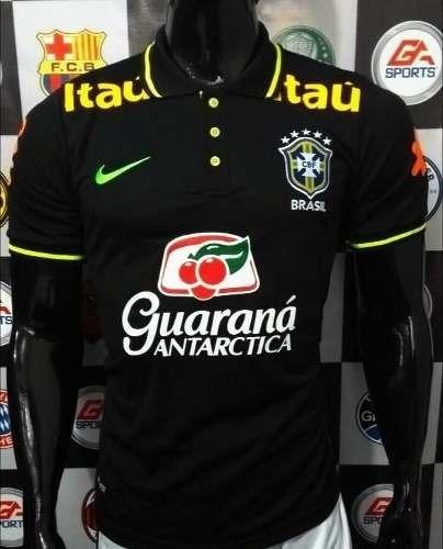 Camisa Polo Seleção Brasileira 2018 Treino Preta - R  79 9c65cd7dbb017