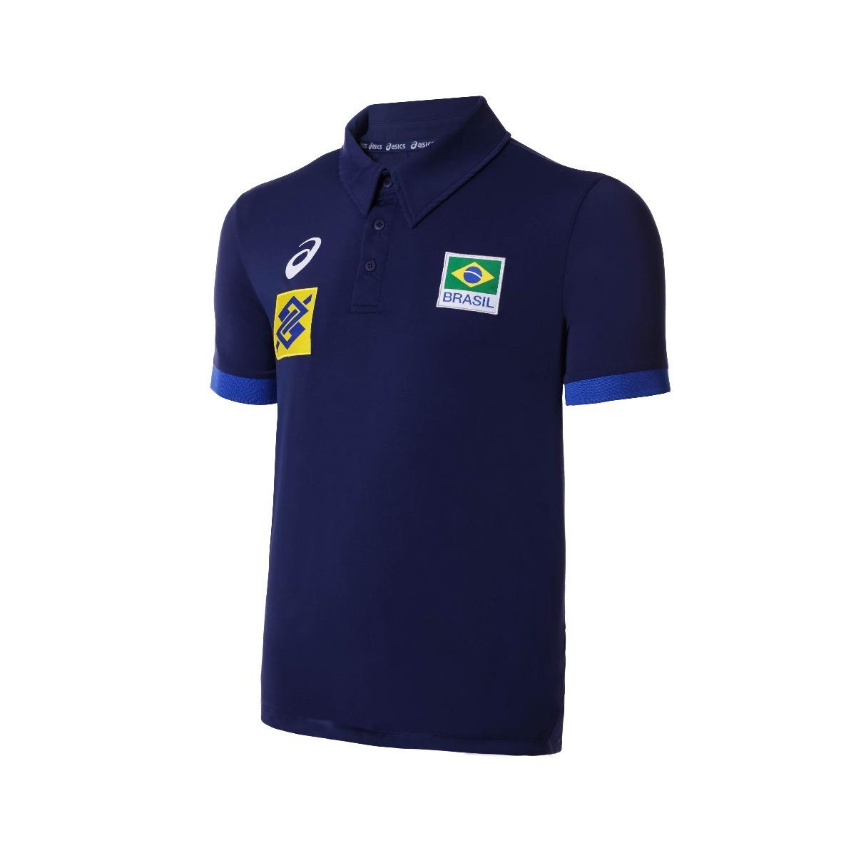 camisa polo seleção brasileira volei cbv - asics oficial. Carregando zoom. 00b84bb36cbed