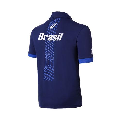 camisa polo seleção brasileira volei cbv - asics oficial