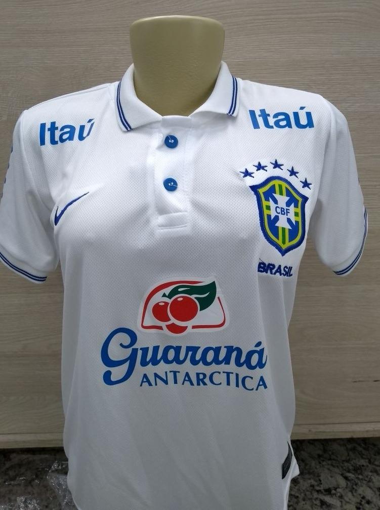 c436ff9abbfa9 camisa polo seleção brasilleira oficial feminino branca. Carregando zoom.