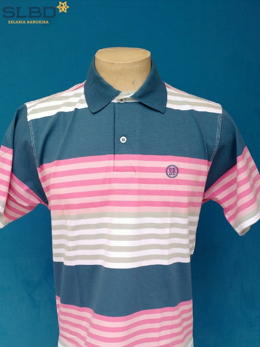 camisa polo smith brothers listrada ref 3525 bco cz azul ros. Carregando  zoom. 0b72d1537c6e0