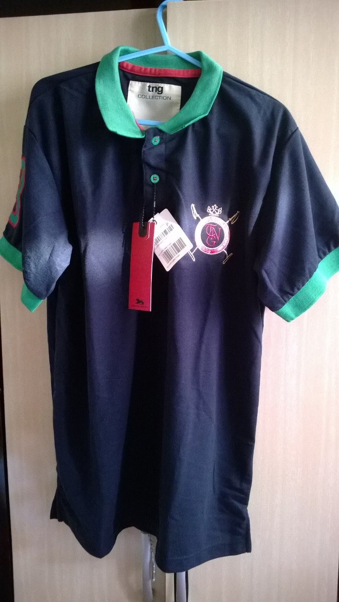 c96890e1af camisa pólo tng masculina - tamanho p. Carregando zoom.