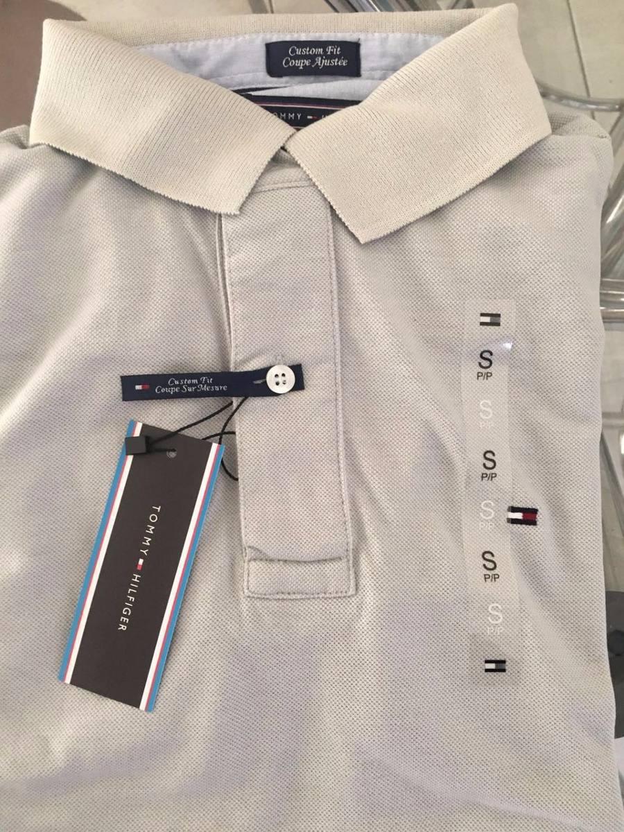 camisa polo tommy hilfiger cinza original. Carregando zoom. bcff1b0e8f84e