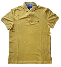7b55c60ffd Tommy Hilfiger Camisa Polo Amarela - Calçados