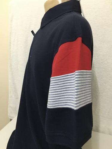 camisa polo tommy hilfiger masc azul marinho tam gg original