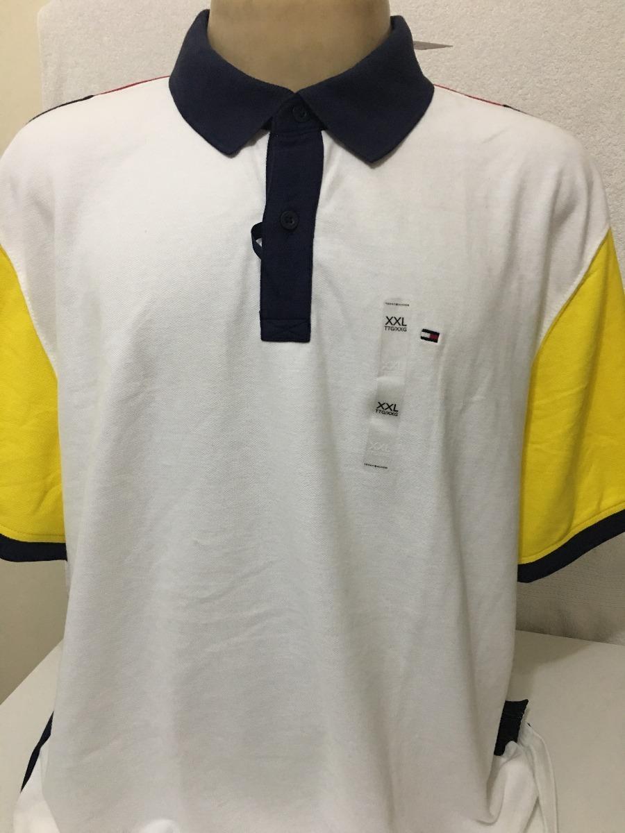 camisa polo tommy hilfiger masc branca tam ggg original. Carregando zoom. c6ec2628143