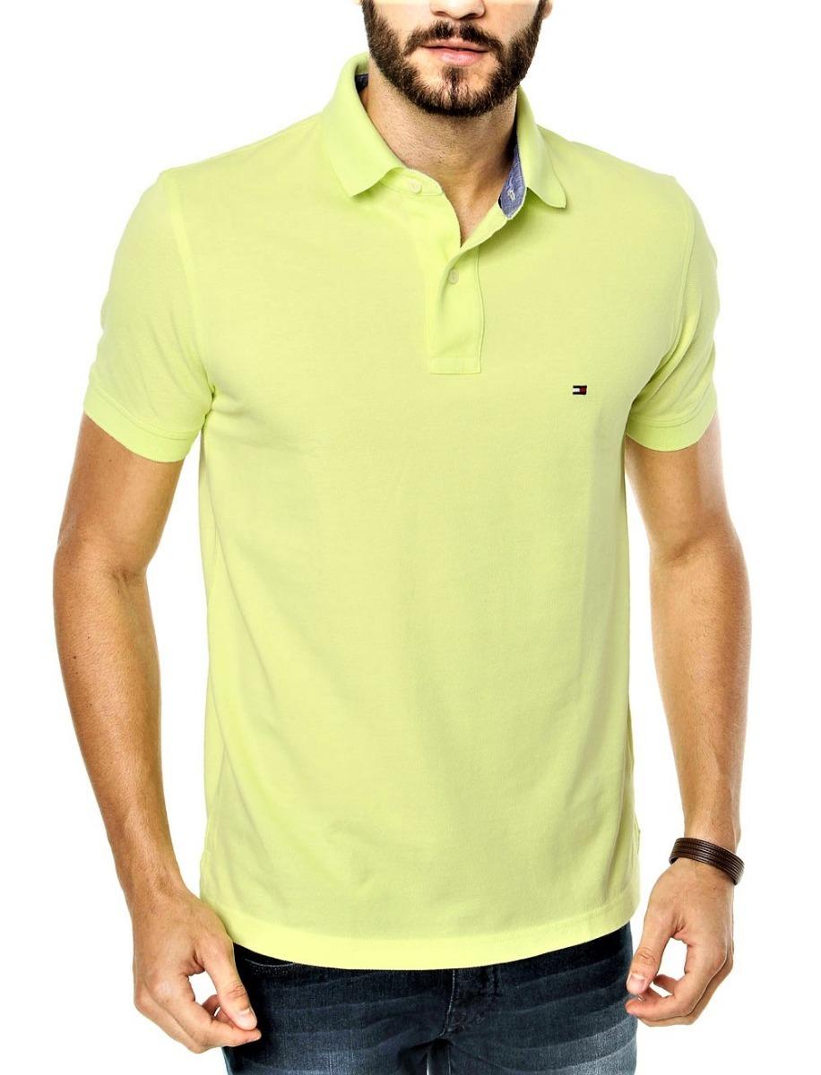camisa polo tommy hilfiger masc custom fit amarelo original. Carregando zoom . dd35386b09edb