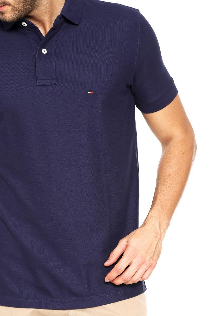 camisa polo tommy hilfiger masc custom fit azul original. Carregando zoom. 413160b3e52b1