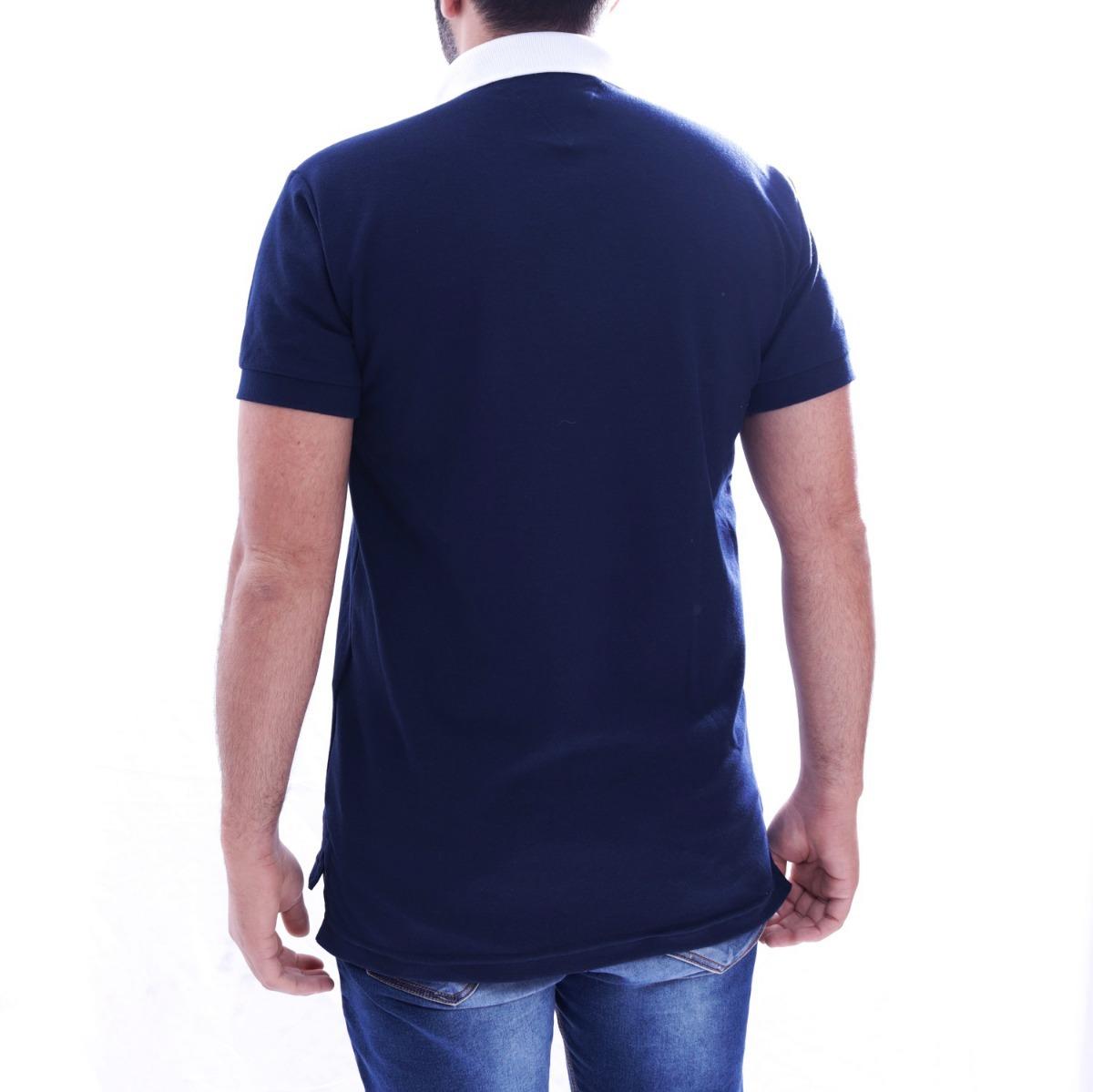 camisa polo tommy hilfiger masc custom fit marinho estampada. Carregando  zoom. dc525d40d03e9