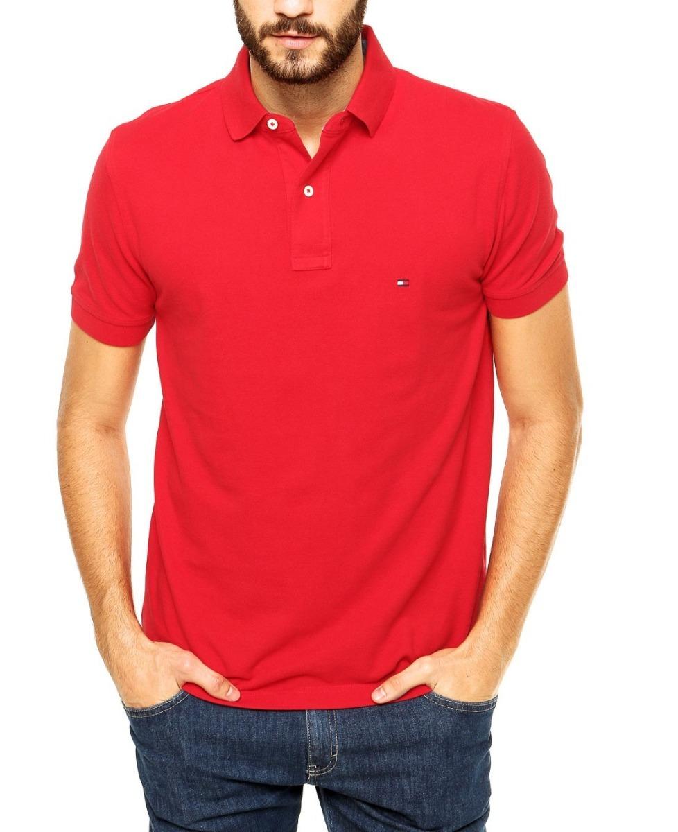 a9ba675e7 camisa polo tommy hilfiger masc custom fit vermelho original. Carregando  zoom.