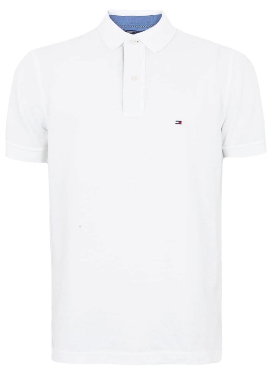 camisa polo tommy hilfiger original - branca. Carregando zoom. 551b516f74203