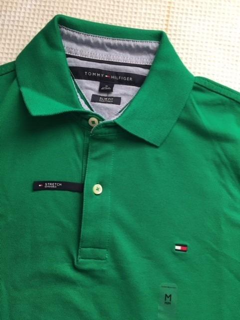 2df48dddfb4c9 Camisa Polo Tommy Hilfiger Original Slim Fit Verde Tam M - R  129