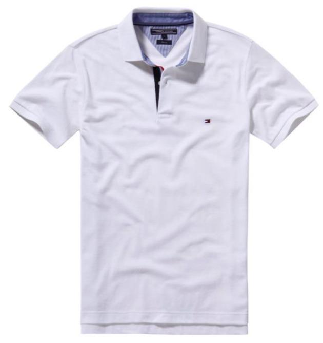 434bfe91e3886 Camisa Polo Tommy Hilfiger Slim Fit Branca - R  139