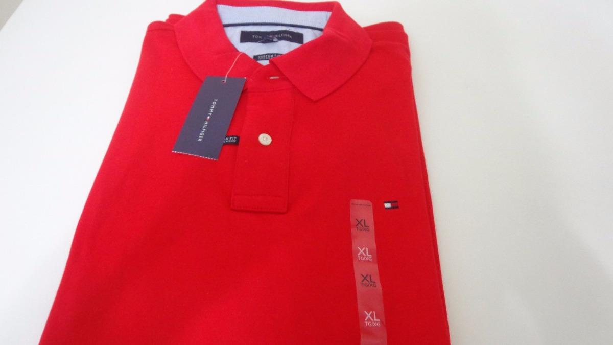 camisa polo tommy hilfiger tam gg cor vermelha original. Carregando zoom. 619394c62c4bd
