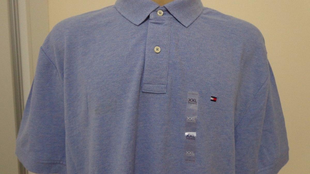 aa0015611 Camisa Polo Tommy Hilfiger Tam Ggg Azul Claro Origina - R$ 235,00 em ...