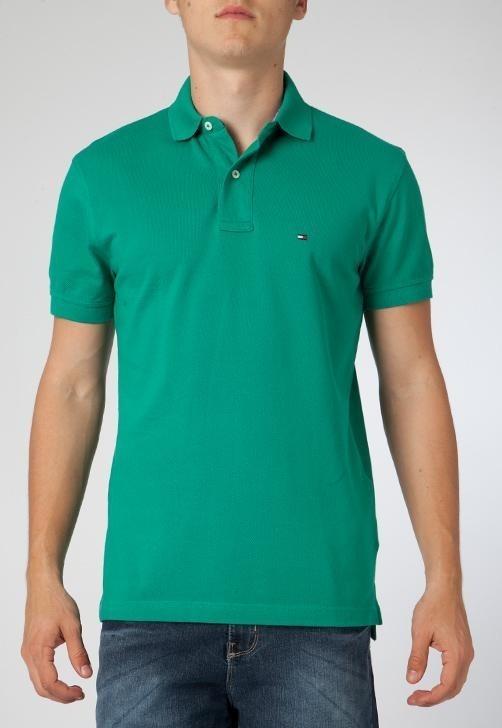 1cb4873cdd30a Camisa Polo Tommy Hilfiger Verde Original Nova - R  149