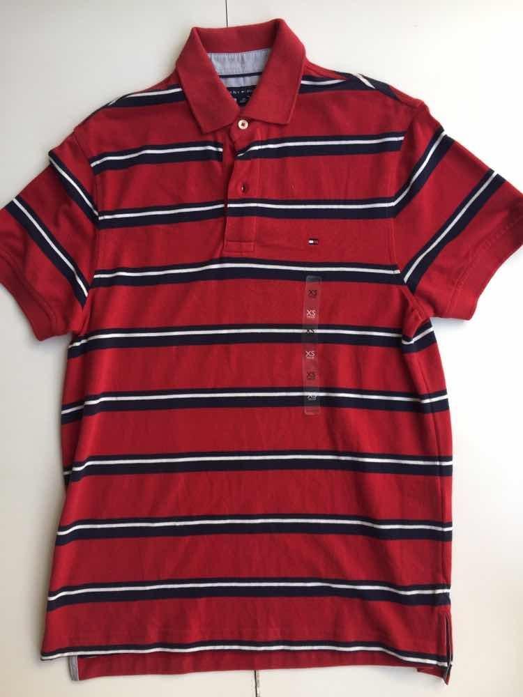 953ef0b56 camisa polo tommy hilfiger vermelha mg curta masculino xs. Carregando zoom.
