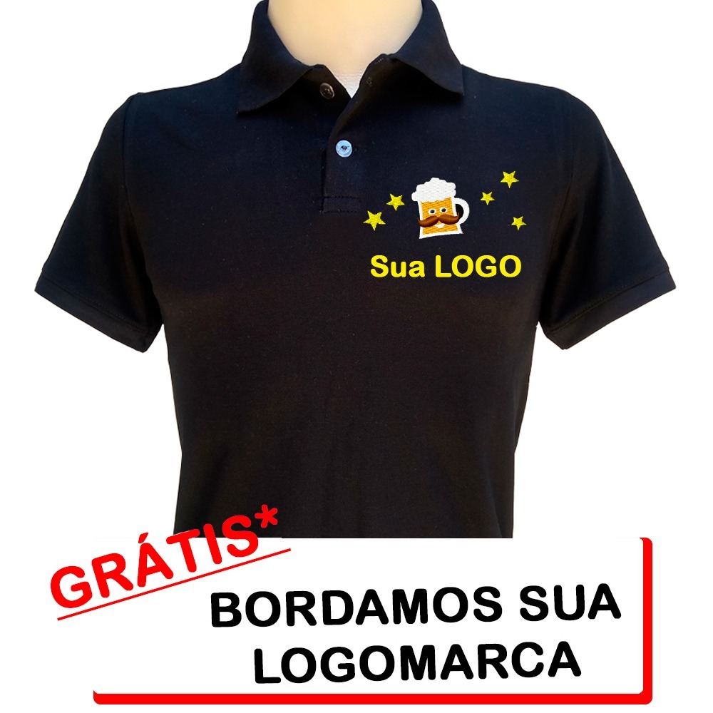 427ea093dc camisa polo uniforme bordada logo personalizada. Carregando zoom.