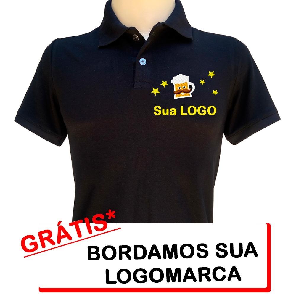 654868f08c camisa polo uniforme bordada logo personalizada. Carregando zoom.