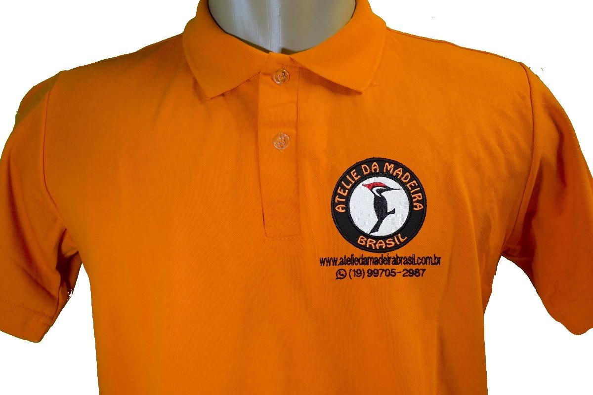 49342056dfb25 camisa polo uniforme bordado personalizada na frente seulogo. Carregando  zoom.
