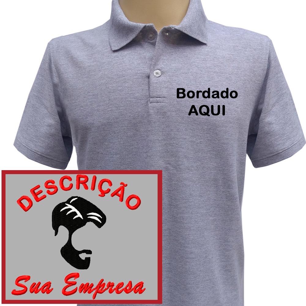 camisa polo uniformes bordado personalizado com seu logotipo. Carregando  zoom. 6283c54bf3980