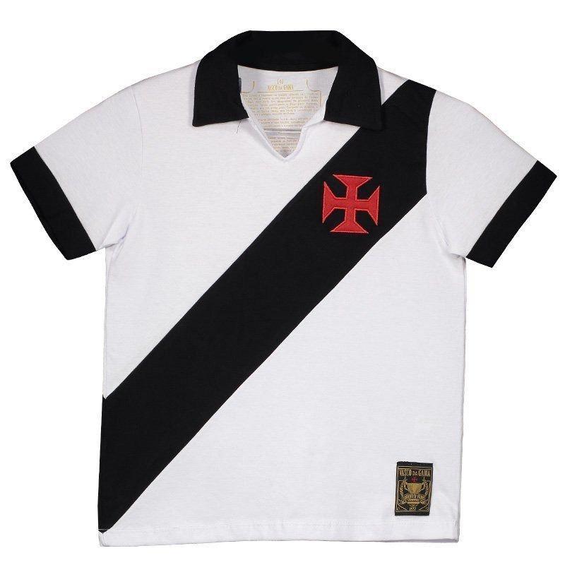 Camisa Polo Vasco Paris Infantil Branca Frete Grátis - R  159 a950de6bcf75c