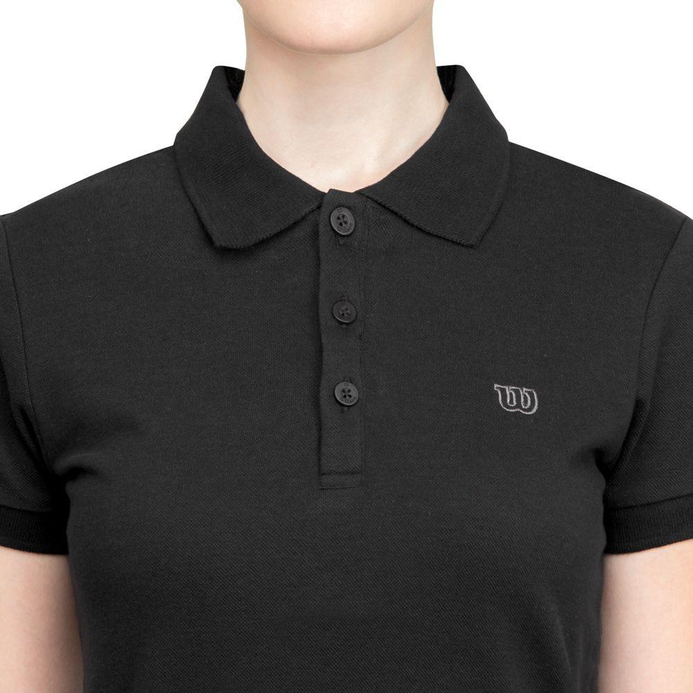 camisa polo wilson logo piquet preta. Carregando zoom. 78345bb9ded9a