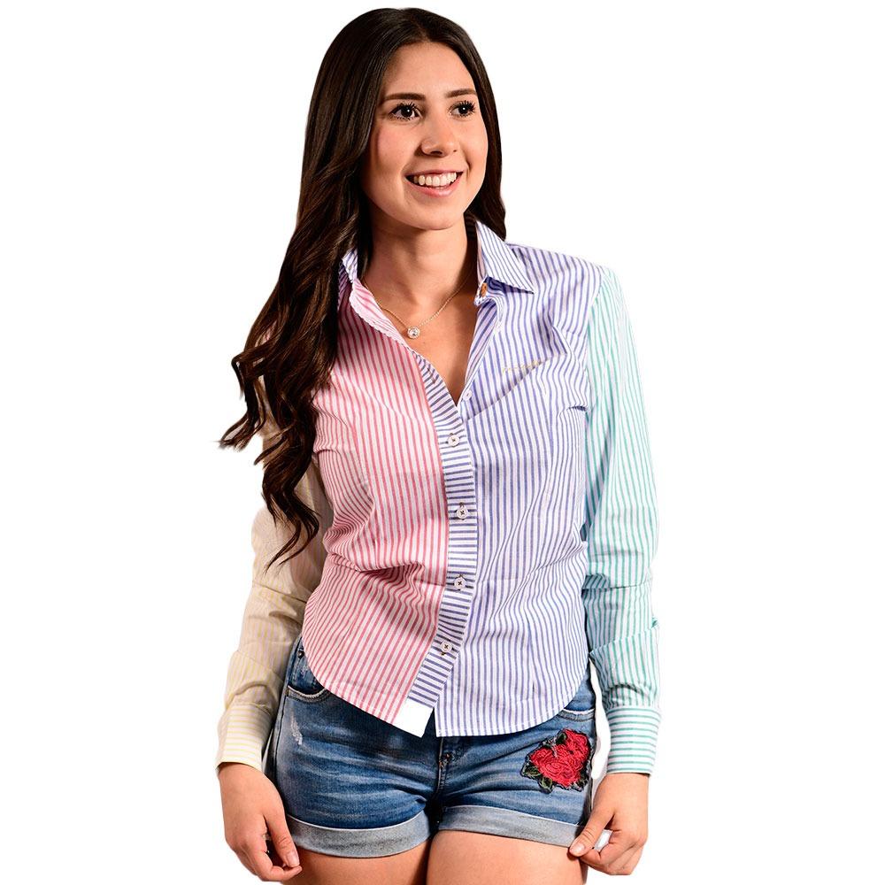 3fcf9d5131 Camisa Porto Blanco Blusa Dama Blanca Colores D-407 -   599.00 en ...