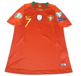 Camisa Portugal 2018 Ronaldo 7 C/patches - Entrega Grátis