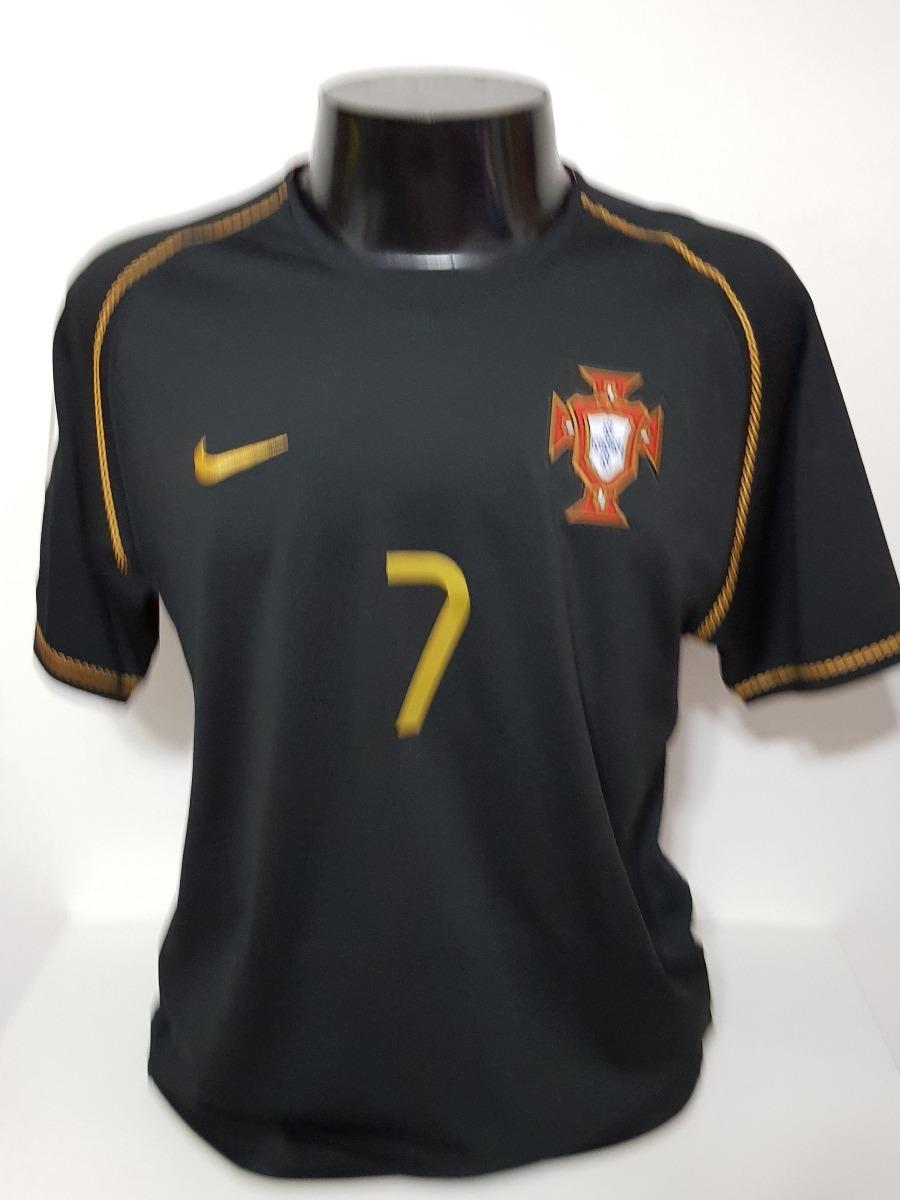Camisa Portugal Away 06-07 Figo 7 Patch Copa 2006 Importada - R  200 ... 8076caf2d89ed