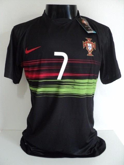 4194ad5077 Camisa Portugal Away 15-16 Ronaldo 7 Euro 2016 Importada - R  160