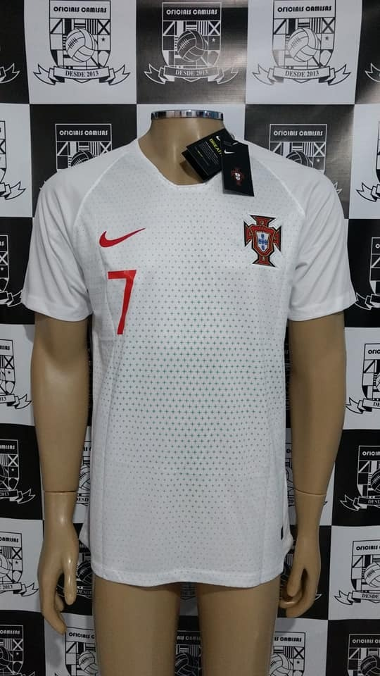 f7e026bad1 964dbb8b50e64b  camisa portugal away branca 2018 cr7 - pronta entrega! Carregando  zoom.